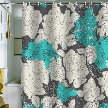 grey and teal shower curtains teal gray shower curtain