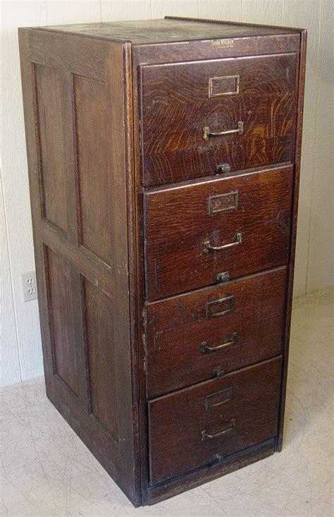 size oak file cabinet signed shaw walker