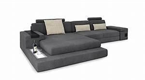 Couch L Form Grau : ecksofa couch wohnlandschaft stoffsofa l form grau creme eckcouch designsofa mit led licht ~ Markanthonyermac.com Haus und Dekorationen
