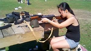 My Filipina Wife Shooting the AK22 - YouTube