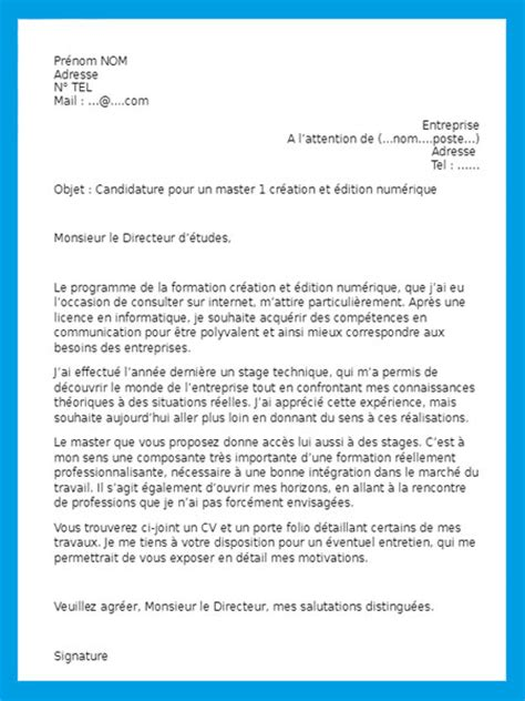 lettre de motivation bts exemple de lettre de motivation pour bts
