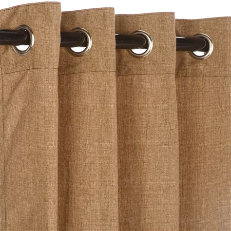 linen sesame grommet sunbrella outdoor curtains