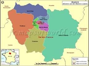 carte de la r 233 gion ile de d 233 partements les grandes villes en ile de 11