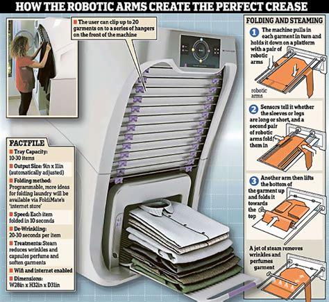un robot qui repasse et plie votre linge en moins d une minute