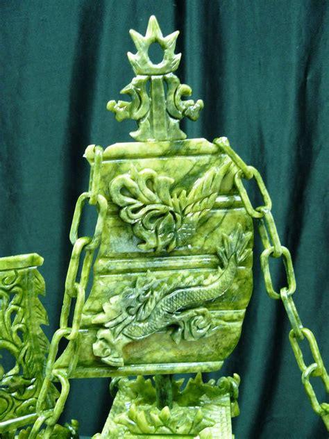 Jade Dragon Boat Carving by Jade Dragon Boat Carving Bj60d