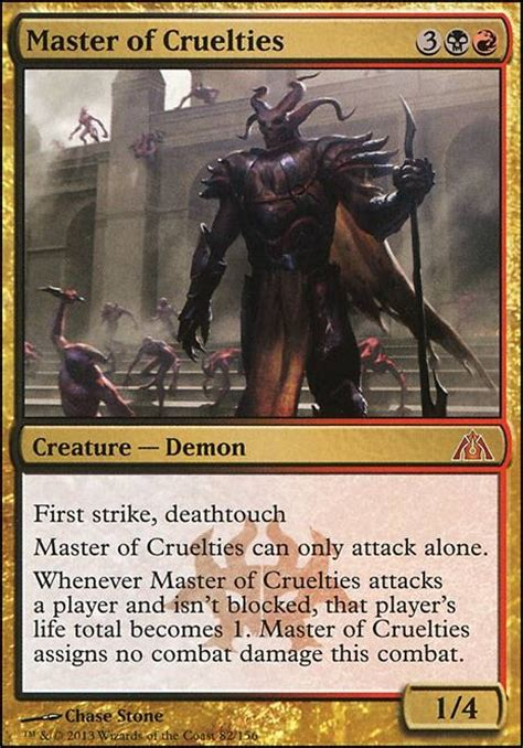 master of cruelties dgm mtg card