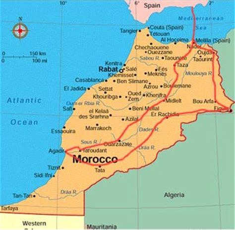 maps map morocco