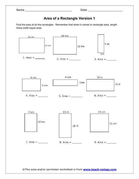7th Grade Area And Perimeter Worksheets  Standards Met Geometric Shapes And Area School