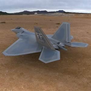 3D model F-22 Raptor Aircraft VR / AR / low-poly OBJ ...