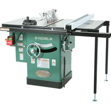 10 quot 3 hp 240v cabinet left tilting table saw grizzly