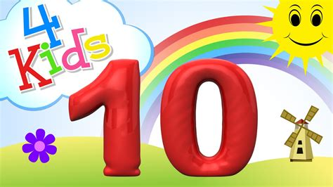 Zahlen lernen für Kinder  zählen lernen von eins bis zehn
