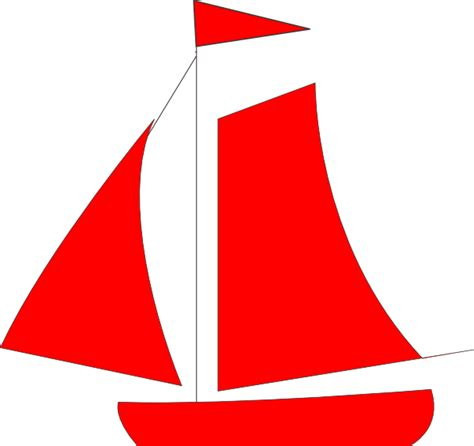 Red Boat Clipart red sail boat clip art at clker vector clip art