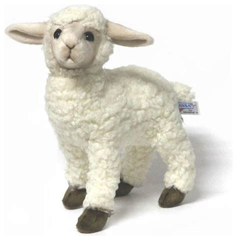 Hansa White Kid Sheep Lamb farmhouse kids toys and games