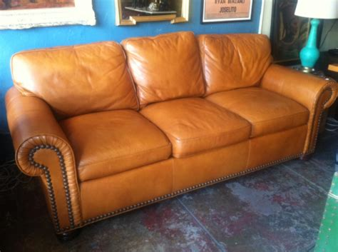 Stickley Furniture Leather Colors by Sold Collector Quality Leather Sofa By Stickley