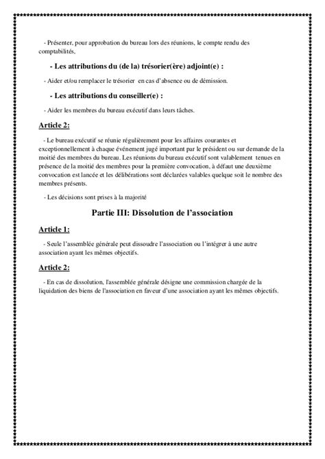 modele convocation reunion bureau association document
