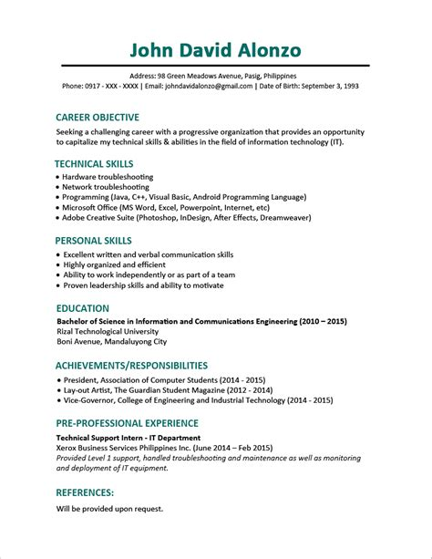 Sample Resume Format For Fresh Graduates (onepage Format. How To Describe Substitute Teaching On A Resume. How To Put Sql On Resume. Professional And Technical Skills For Resume. Examples Of Cover Letters For Resumes. Recruiter Job Description For Resume. What To Put On A Resume. Sample Resume For Computer Science Fresh Graduate. Chronological Resume Samples
