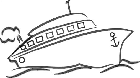 Cartoon Drawing Of A Boat by Man Sketching Ship Speed Boat On Whiteboard Background