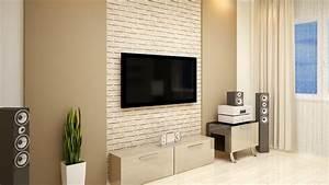 Tv An Wand Anbringen : fernseher an der wand ~ Markanthonyermac.com Haus und Dekorationen