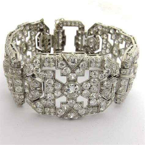 bracelet platine diamants 132 bijou d 233 poque d 233 co bijoux anciens or