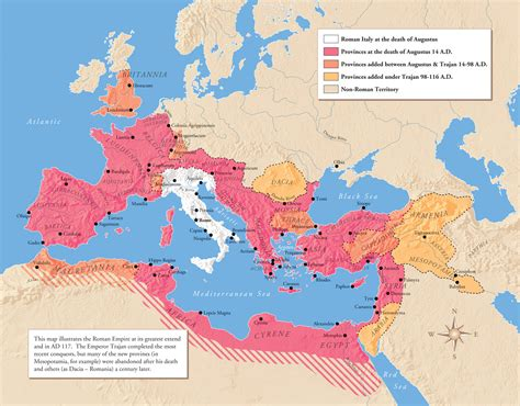 Roman Empire Map, History, Facts, Rome At Its Height