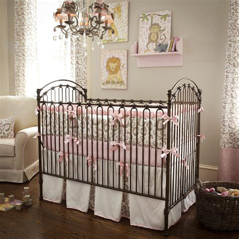 baby crib bedding pink and taupe leopard crib bedding baby bedding in