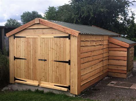 Timber Garage  The Wooden Workshop  Oakford, Devon