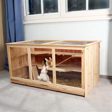 cage 224 lapins en bois 117 cm achat vente cage cage 224 lapins en bois clair cdiscount