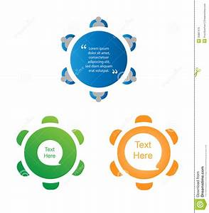 Round Table Discussion Icon Set Stock Vector ...