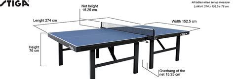 table tennis table dimensions aussie table tennis