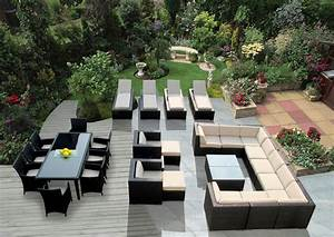 Lounge Sofa Outdoor : genuine 29 piece ohana wicker patio furniture set outdoor sectional sofa dining and chaise ~ Markanthonyermac.com Haus und Dekorationen