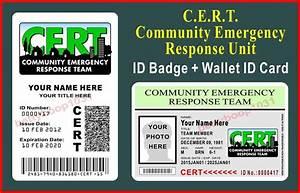 CERT ID Badge + Wallet ID Card Set (COMMUNITY EMERGENCY ...