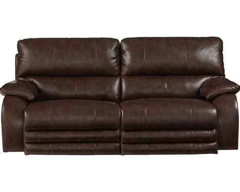 catnapper power headrest power lay flat reclining sofa java cn 64271 java at