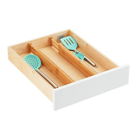 Bamboo Drawer Organizers   The Container Store