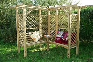 Pergola Mit Bank : 45 garden arbor bench design ideas diy kits you can build over weekend ~ Markanthonyermac.com Haus und Dekorationen