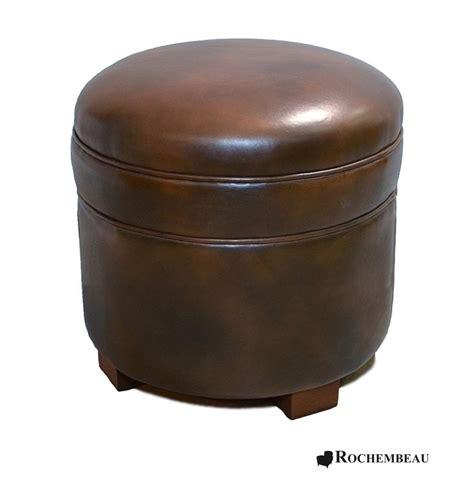 leather footstool top grain leather footstools