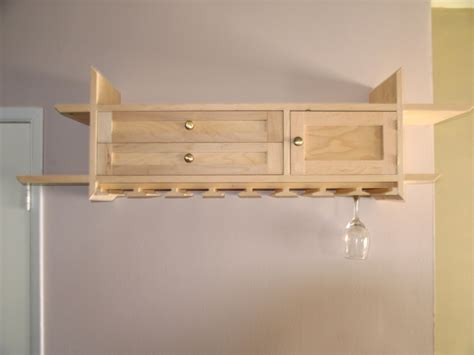 smart wall mounted diy wine glass rack with cabinet from