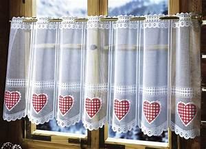 Panneaux Gardinen Landhaus : kurzstore herz gardinen brigitte hachenburg ~ Markanthonyermac.com Haus und Dekorationen