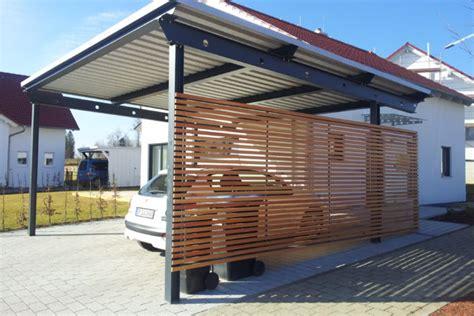 Carport  Seitenwand Mit Rhombusverkleidung  Stahlbau Nägele
