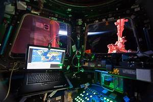 Interior View From the International Space Station Cupola ...