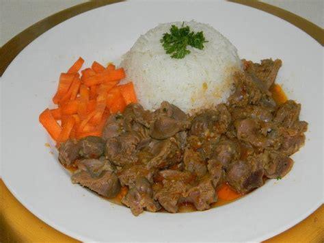 recette de cuisine mijot 233 de gesiers de volaille
