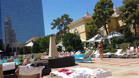 Swimming Pool Area Of Bellagio Hotel  Las Vegas July
