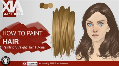 How To Paint Hair  Youtube