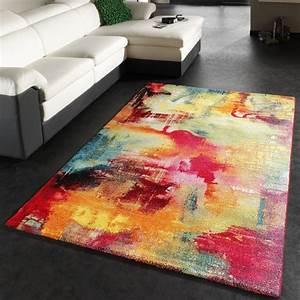 Türkische Teppiche Modern : teppich modern design teppich leinwand optik multicolour gr n blau rot gelb wohn und ~ Markanthonyermac.com Haus und Dekorationen