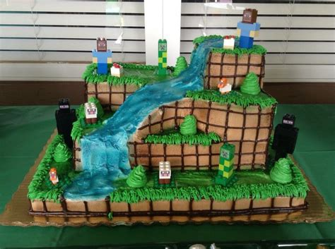minecraft cake customized at publix then added my own lego builds feel free to