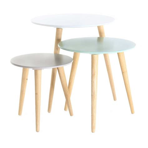 set de 3 tables gigognes rondes scandinaves zago store