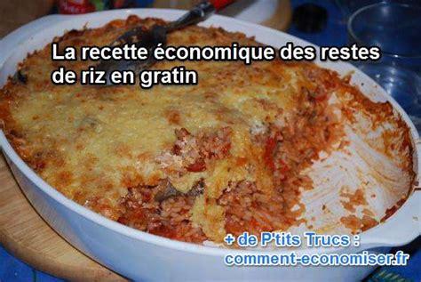 recette 201 conomique les restes de riz en gratin