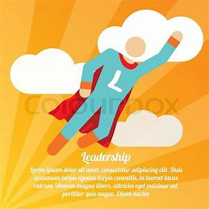 Leadership poster with superman superhero business success ...