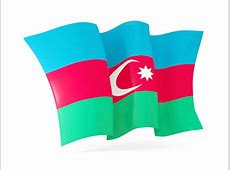 Waving flag Illustration of flag of Azerbaijan