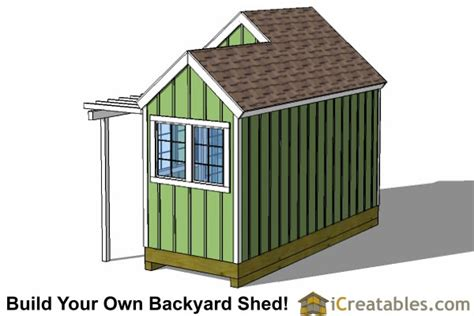 12x8 8x8 garden shed plans with trellis