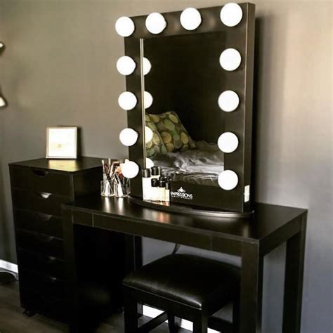of makeup vanity table with lights makeupjournal